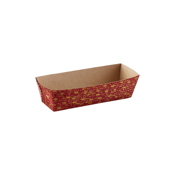 Mini Gold Leaves Loaf Pans Red Pkg/12