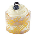 Gold Wave Muffin Baking Cups