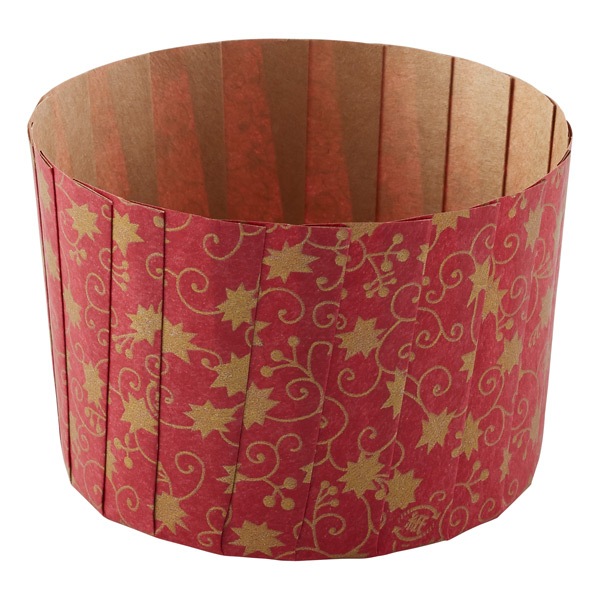 Gold Leaves Baking Muffin Cups Red Pkg/12