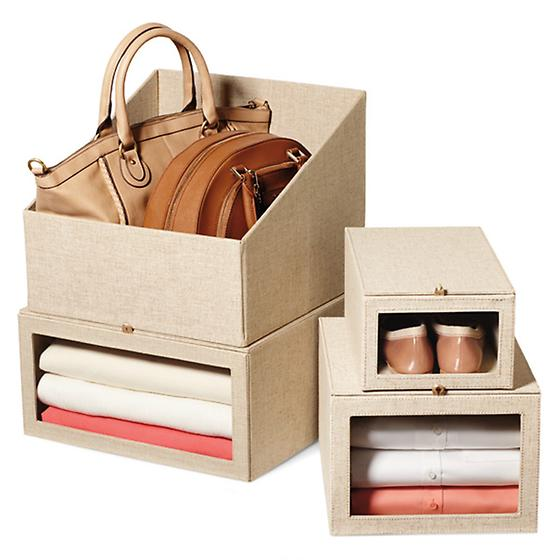 Linen Drop-Front Sweater Box
