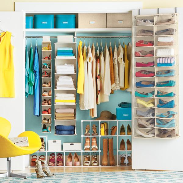Shoe Organizers For Closets: 24-Pocket Overdoor Shoe Organizer
