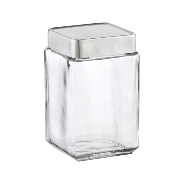 1.5 qt. Glass Canister Aluminum Lid
