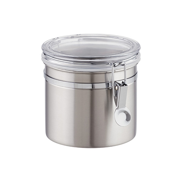 34 oz. Canister Brushed Stainless