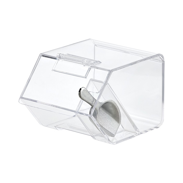 Medium Goodie Bin with Scoop Clear