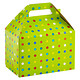 Large Party Dots Gable Box Lime Multi