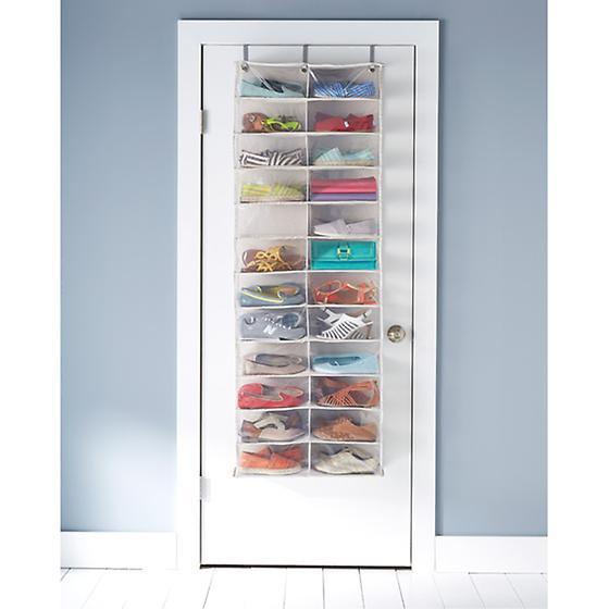 24-Pocket Overdoor Shoe Organizer