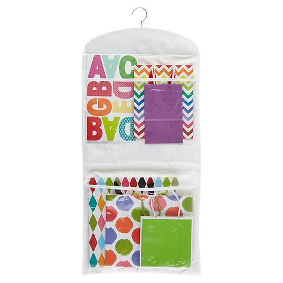 Hanging Gift Wrap Organizer