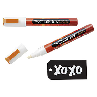 White Chisel Tip Chalk Markers
