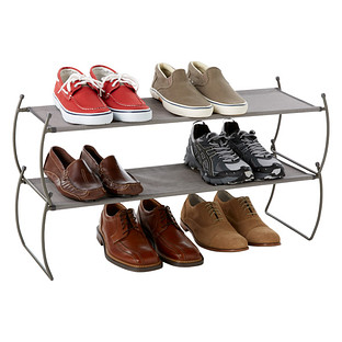 Platinum Carrie Stacking Shoe Shelf by Umbra