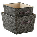Grey Crochet Bins