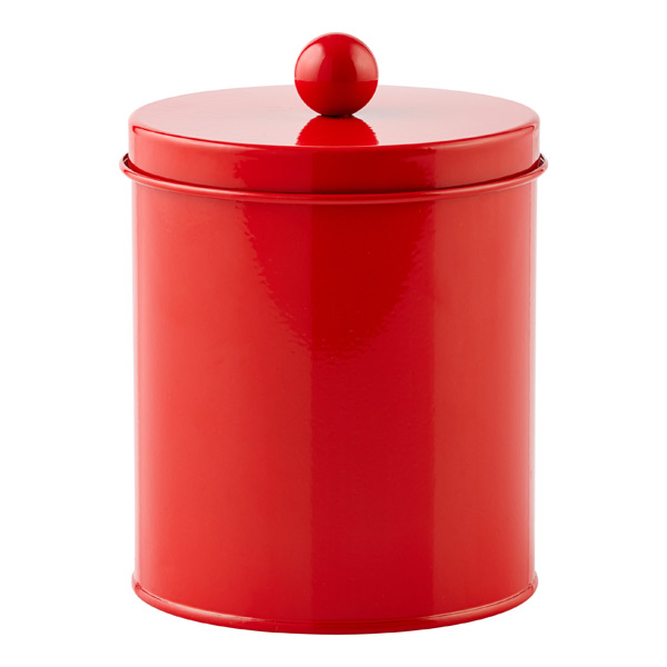 Small Cylinder Tin Red