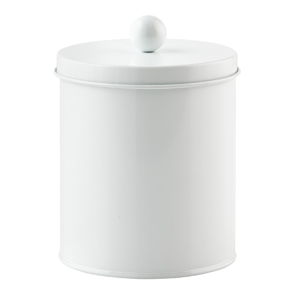Small Cylinder Tin White