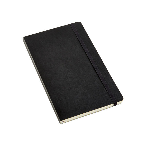 Large Moleskine Soft Ruled Notebook Black