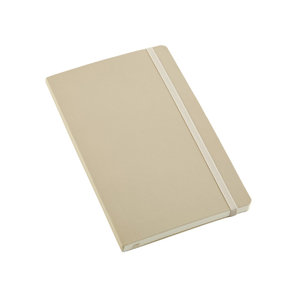 Large Moleskine Soft Ruled Notebook Beige