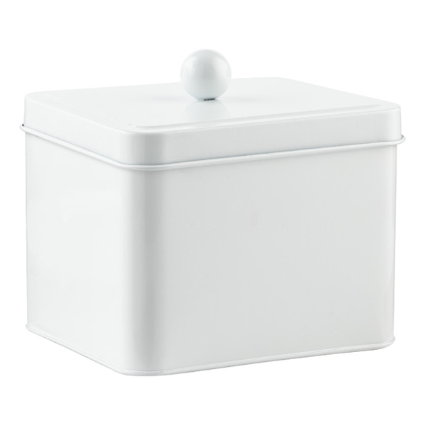 Square Tin White