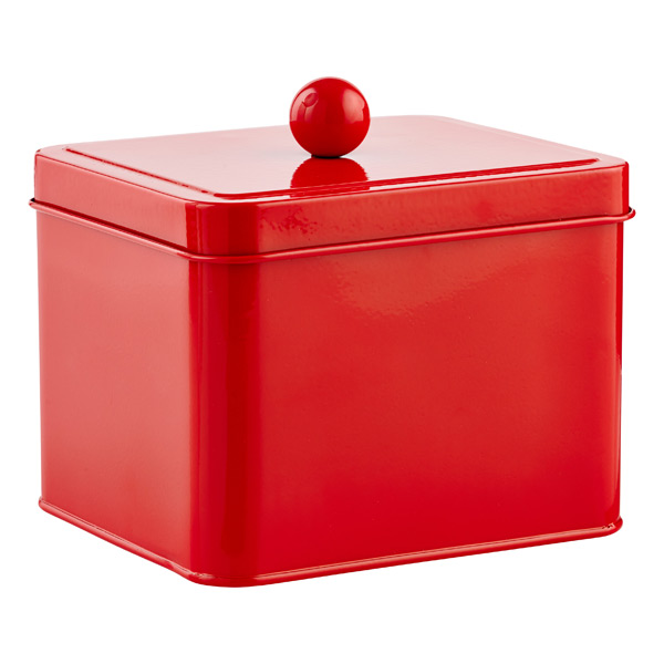 Square Tin Red