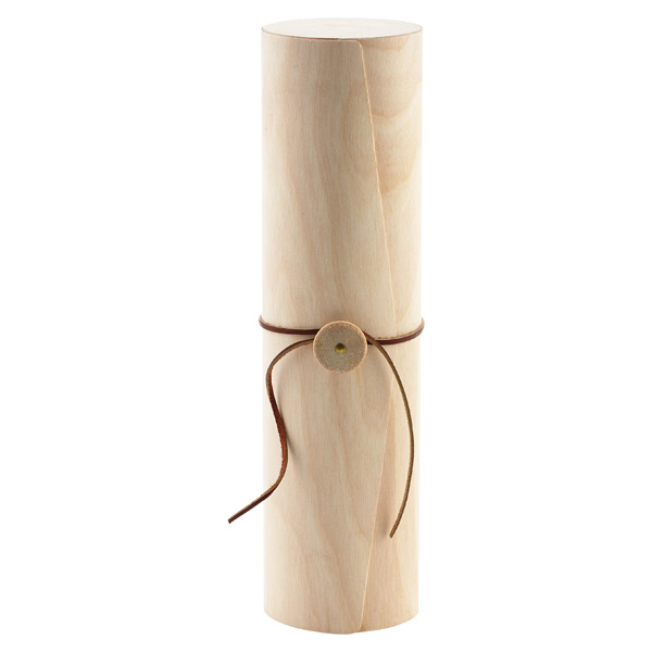 Birch Veneer Wine Bottle Cylinder