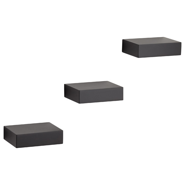 Umbra Showcase Shelves Black Set of 3