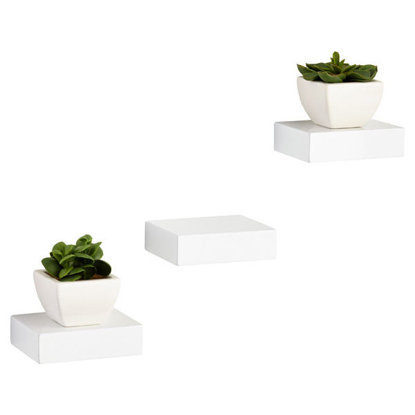 White Showcase Shelves by Umbra