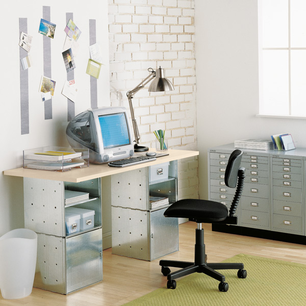 Steel Cube Desk Sand Desk Top