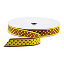 Yellow & Brown Dot Reversible Ribbon