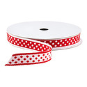 Red & White Dot Reversible Ribbon