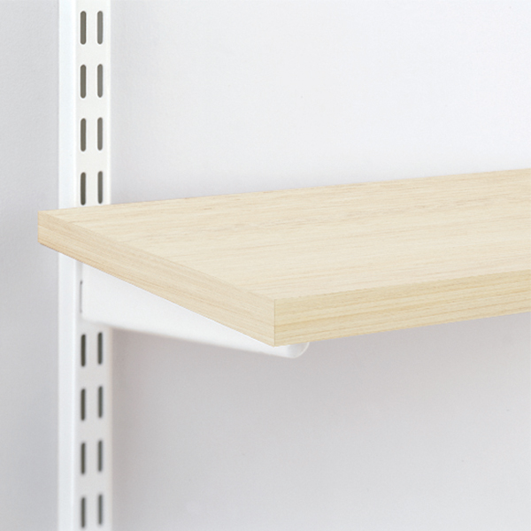 Sand melamine shelves the container store