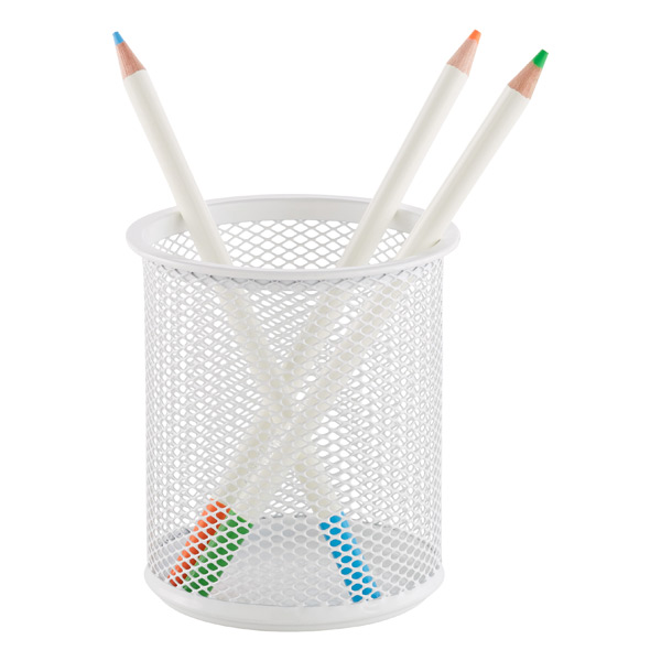 Mesh Pencil Cup White