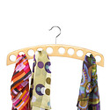 Natural 10-Scarf Hardwood Hanger