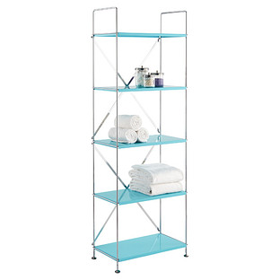 Turquoise Barcelona 5-Shelf Bookcase