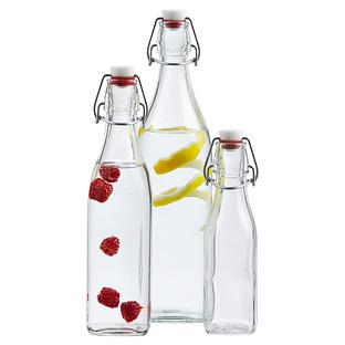 Square Hermetic Glass Bottles