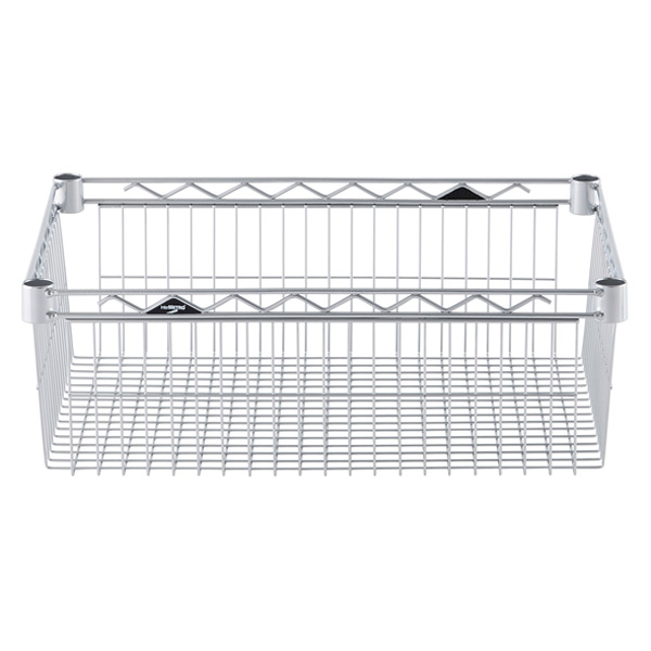 "18"" x 24"" x 8"" h InterMetro Basket Shelf Silver"