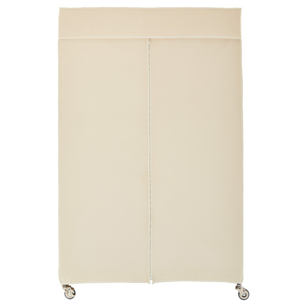 InterMetro Garment Rack With Cotton Canvas Cover The