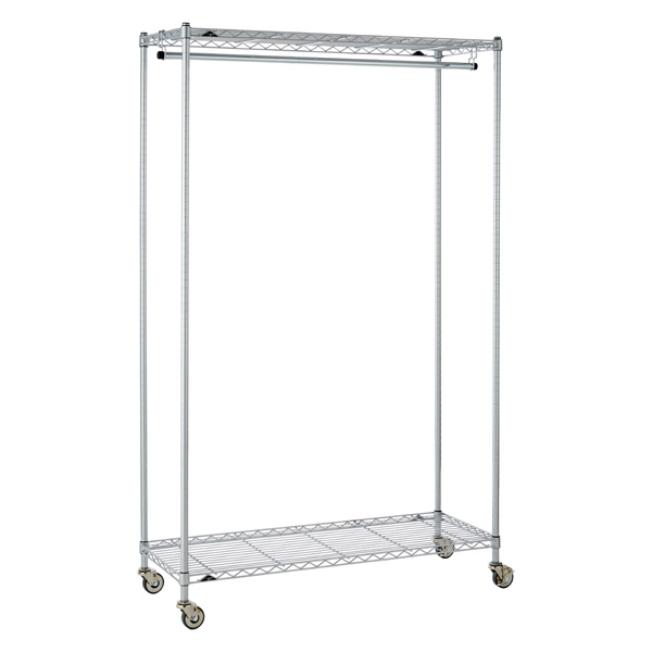 InterMetro Large Garment Rack Silver