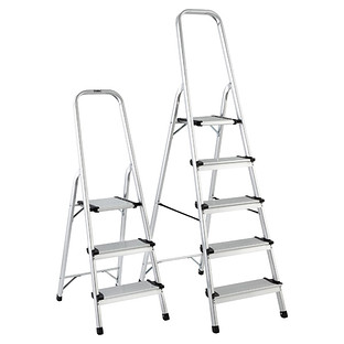 Black Easy Folding Step Stool The Container Store