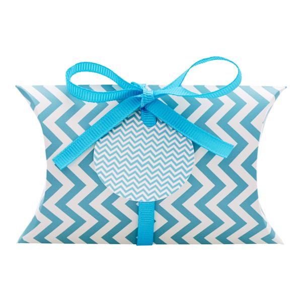Gift Card Pouch Chevron Aqua