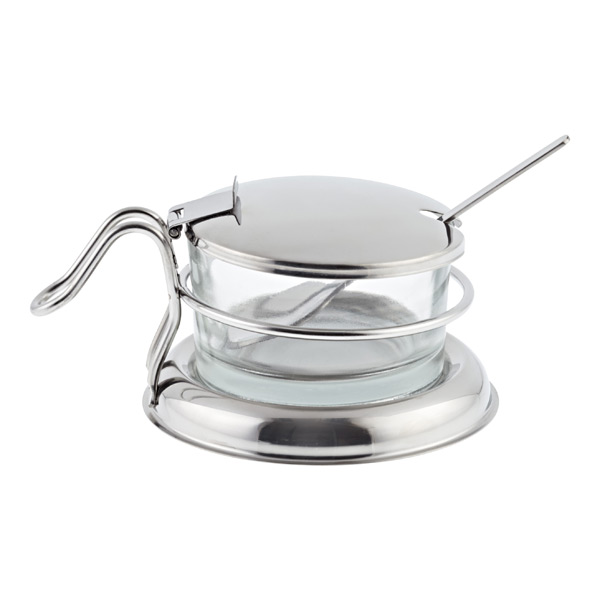 6 oz. Condiment Server Stainless & Glass