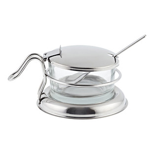 Stainless Steel & Glass Condiment Server