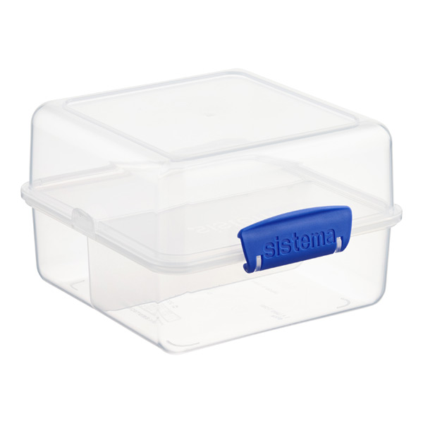 48 oz. Klip-It Lunch Cube To Go Clear 1.4 ltr.