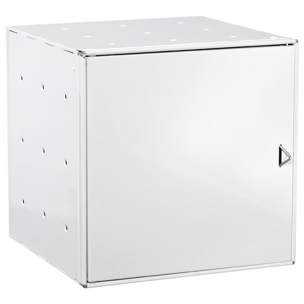White Enameled QBO® Steel Cube Door
