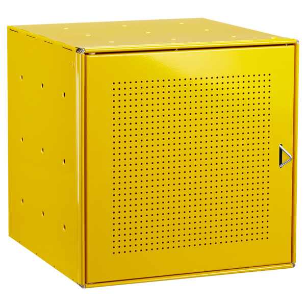 Yellow Enameled QBO® Perforated Steel Cube Door