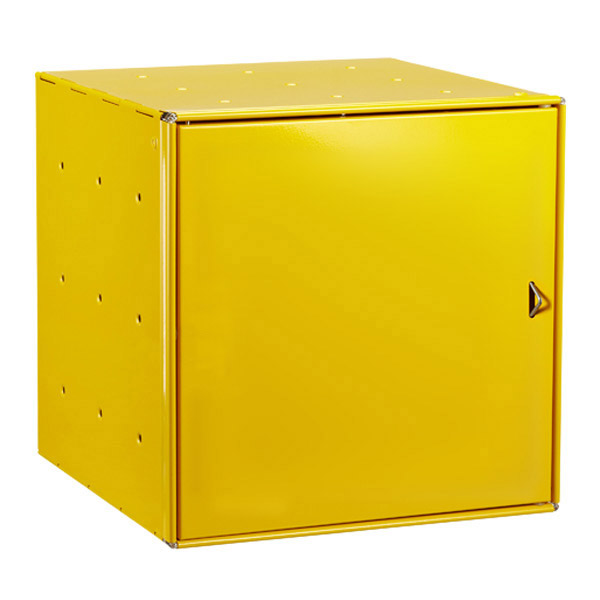 Yellow Enameled QBO Steel Cube Door