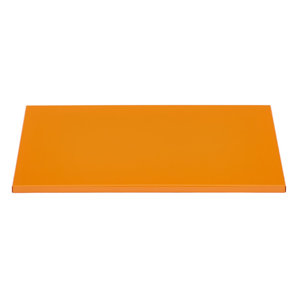 Orange Enameled QBO Steel Cube Shelf
