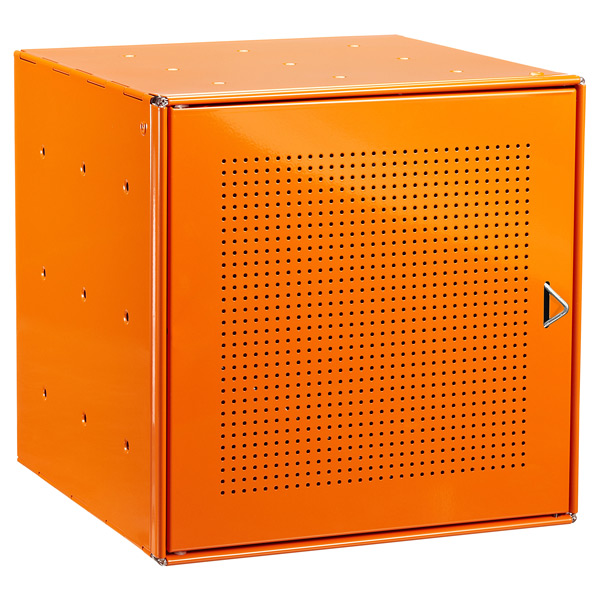 Orange Enameled QBO® Perforated Steel Cube Door