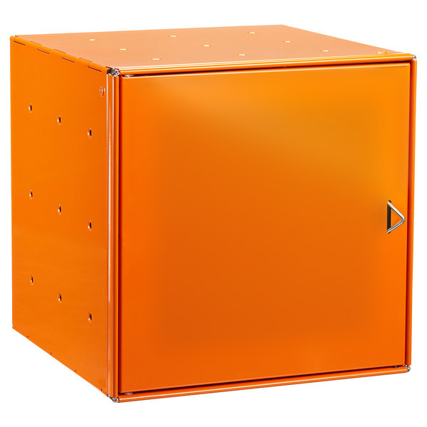 Orange Enameled QBO® Steel Cube Door
