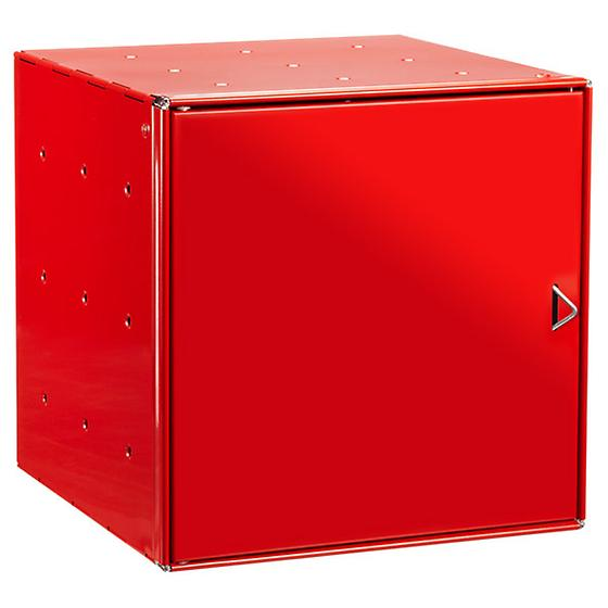 Red Enameled QBO Steel Cube Door