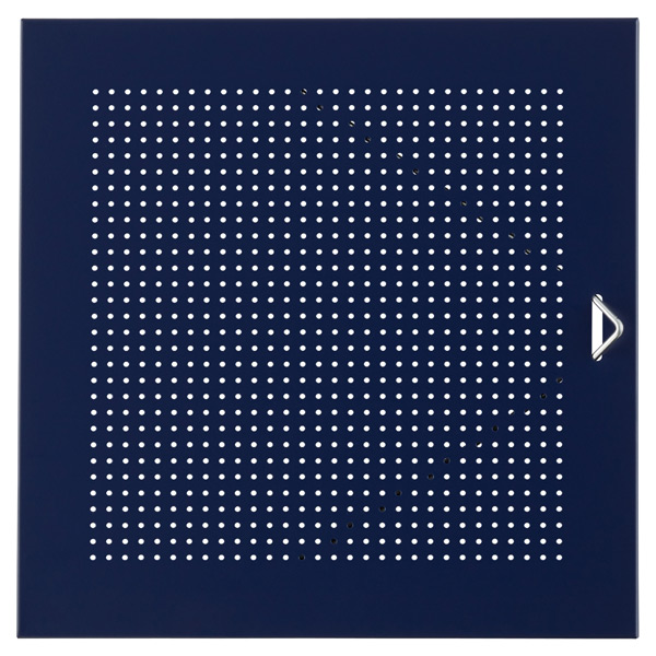 Blue Enameled QBO Perforated Steel Cube Door