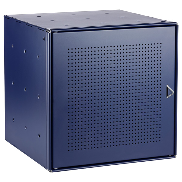 Blue Enameled QBO® Perforated Steel Cube Door