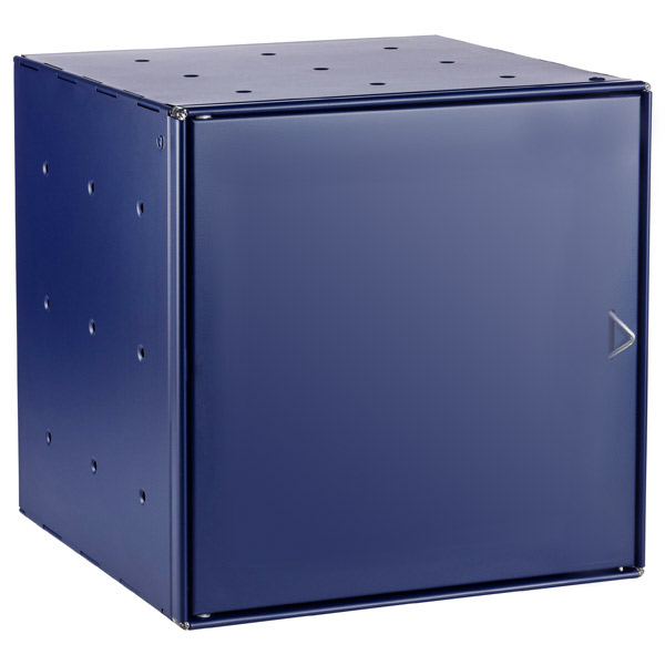 Blue Enameled QBO Steel Cube Door