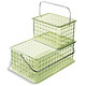 Large Grid Tote w/ Handle Green